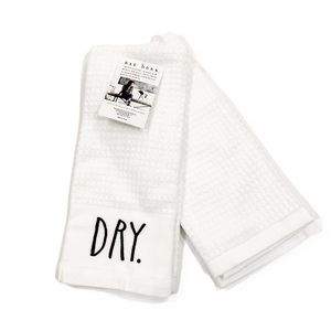 New Rae Dunn DRY CLEAN Set of 2 Kitchen Towel